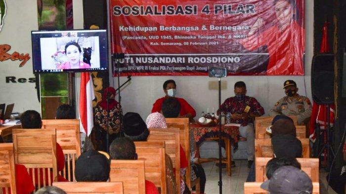 Tuti Roosdiono Adakan Sosialisasi Empat Pilar Kebangsaan Bersama Kader Partai