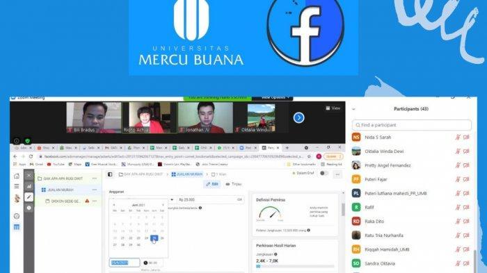 Mahasiswa Universitas Mercu Buana Meruya memberikan Tutorial cara pembuatan Iklan di Facebook Ads,  juga cara pengunaan Social Media Scheduling Technique.