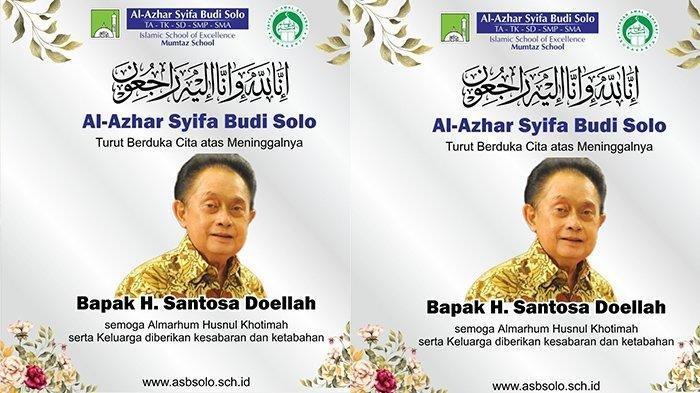 Berita Duka, Santosa Doellah Pemilik Batik Danar Hadi Solo Meninggal Terpapar Corona