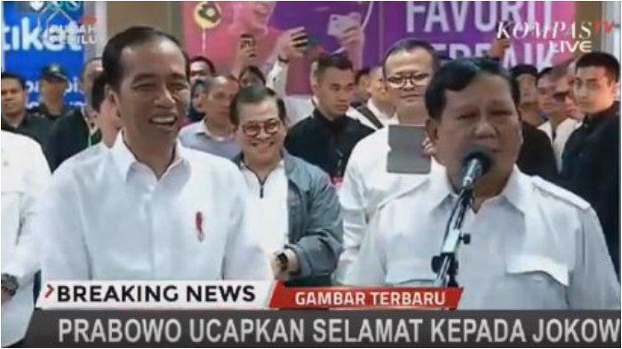 Ucapan Prabowo Membuat Jokowi Tertawa Terpingkal-pingkal