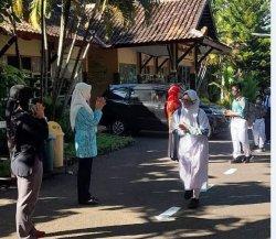 Uji Coba PTM Tahap II, Siswa SMPN 33 Semarang hanya Belajar 2 Jam Saja