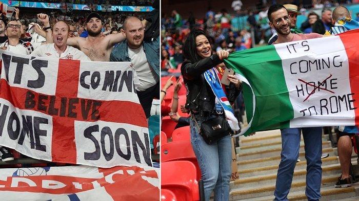 Sedang Berlangsung Babak II Skor 0-1 Italia Vs Inggris Euro 2021, Gli Azzurri Kena Serangan 'Boo'