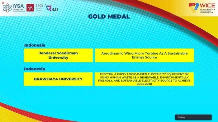 Delegasi Unsoed Purwokerto Raih Gold Medal dan Macedonia Special Award di WICE 2021