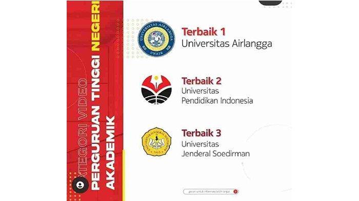 Unsoed Purwokerto Terbaik 3 PTN Se-Indonesia dalam Lomba Video E-Tour