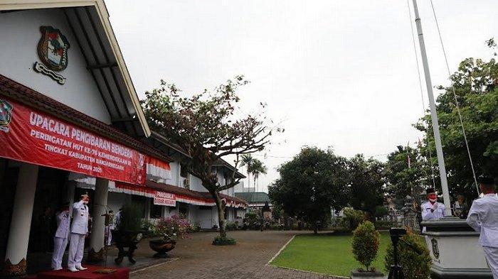 Bupati Banjarnegara Jadi Inspektur Upacara Terbatas di Kantor Bupati Banjarnegara