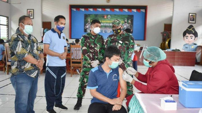 Meski Napi Tak Bisa Pergi ke Mana-mana, Serbuan Vaksinasi Kodim Sragen Sasar Penghuni Lapas