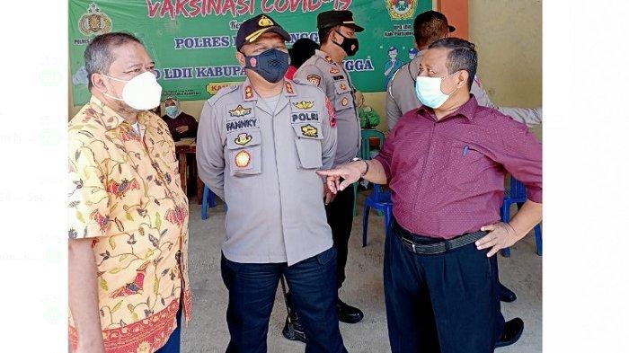 Ratusan Warga LDII Ikut Vaksinasi Merdeka kerjasama dengan Polres Purbalingga di Pondok Wali Barokah