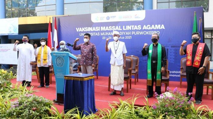 UMP Purwokerto Berikan Vaksinasi Covid-19 bagi 5.000 Warga Banyumas Lintas Agama