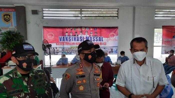 Peringati Hari Bhayangkara Ke-75 Serbuan Vaksinasi Massal TNI/Polri Gandeng Pemkab Wonogiri