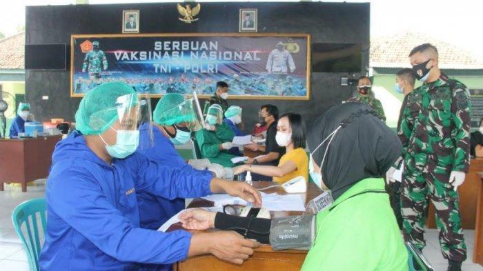 Kodim Sragen Kembali Gelar Serbuan Vaksinasi Nasional untuk Masyarakat