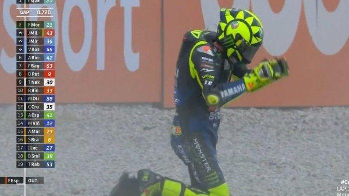 Pengakuan Valentino Rossi Seusai Jatuh diMotoGP Catalunya:Saya Terbawa Emosi