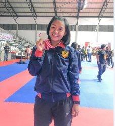 Bripda Sindhy, Polwan Cantik yang Sudah Puluhan Kali Merebut Juara Karate