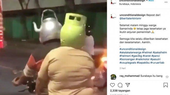 Viral Helm Model Teko dan Tabung Gas yang Lucu dan Menghibur, tapi. . . Legalkah?