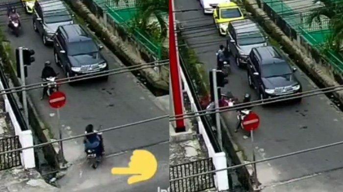 Video Viral Pemotor Cewek Langgar Rambu Verboden Lalu Bikin Pengendara Masuk Got Bikin Emosi Netizen