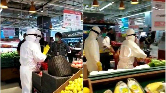 2 Pengunjung Supermarket Diusir Gara-gara Pakai APD Lengkap Seperti Tim Medis Corona, Netizen: Lebay