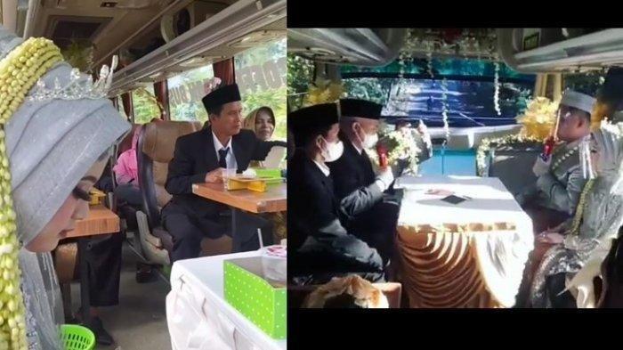 Alasan Titin-Angga Menikah di Dalam Bus Saat PPKM Darurat Boyolali