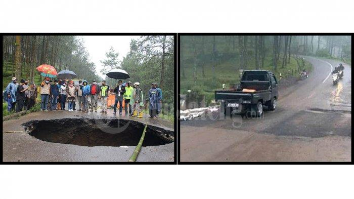 Before After Lubang Besar Menganga Jalan Provinsi Pengubung Tegal dan Brebes