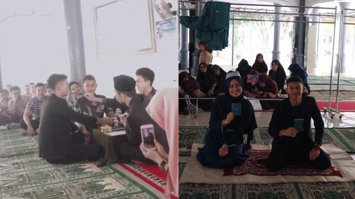 Viral sepasang anak SMA menggelar praktik akad nikah di sekolah, ternyata mereka berharap menjadi nyata di masa depan.