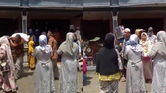 Viral video rombongan seserahan asal Pemalang nyasar ke tempat pengantin lain gara-gara share location kurang tepat. (Instagram.com/@borobudurnews)