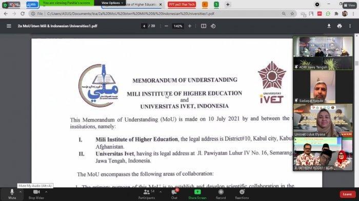 Universitas Ivet Ikuti Virtual Signing Lol, Mou, dan International Conference