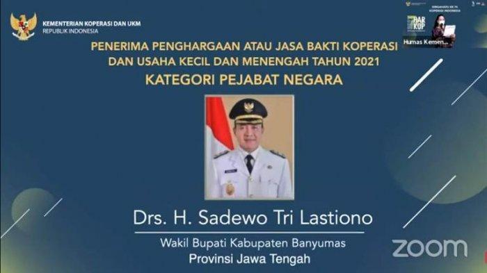 Selamat, Wakil Bupati Banyumas, Sadewo Raih Penghargaan dari Menteri Koperasi dan UKM