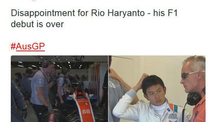 Waduh, Debut Pertama Rio Haryanto Harus Tersingkir di GP Australia