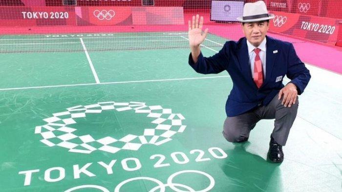 Wahyana, Guru olahraga SMP N 4 Patuk, Kabupaten Gunungkidul, Daerah Istimewa Yogyakarta, menjadi salah satu wasit utama di pertandingan bulutangkis Olimpiade Tokyo 2020.
