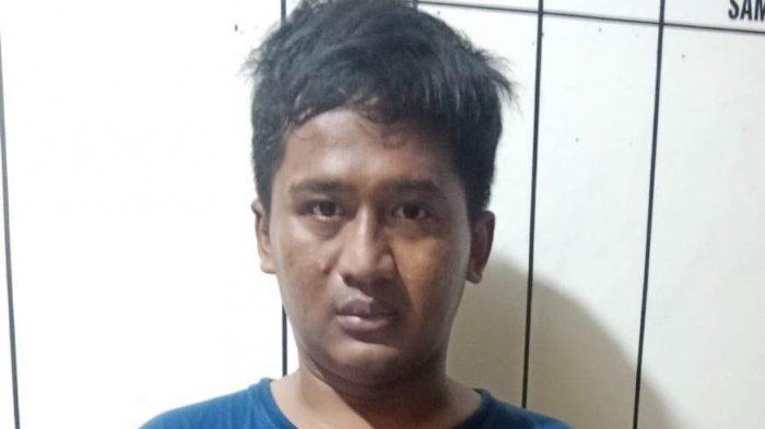 Wajah Abdul Hamid (31) pelaku pencurian tas di Jalan Raya Solo-Purwodadi Sragen.