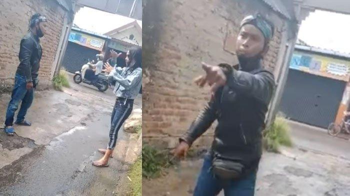 Viral Video Suami Menikam Istri Meski Sudah Dilerai saat Cekcok di Depan Gang