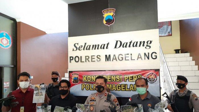 BD Satpam Magelang Curi Besi Pelindung Pohon Milik Proyek Rehabilitasi Jalan KSPN Candi Borobudur