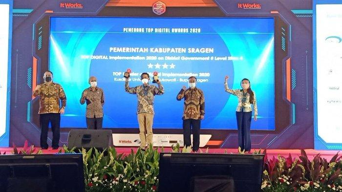 Pemkab Sragen Raih Dua Penghargaan Top Digital Awards 2020