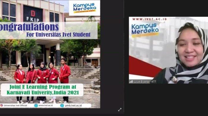 5 Mahasiswa Universitas Ivet Semarang Joint Class International dengan Karnavati Univerversity India