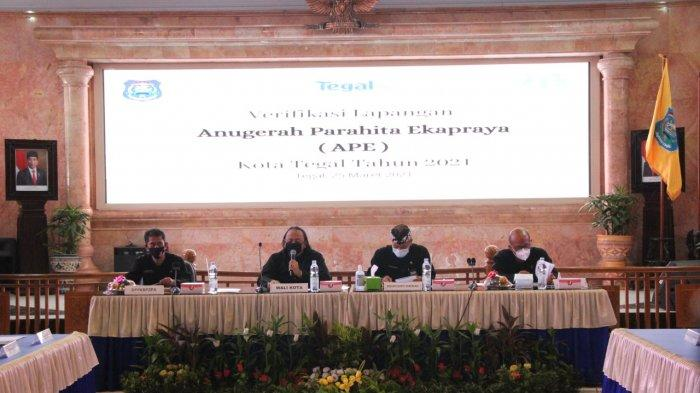 Pemkot Tegal Diverifikasi Penghargaan Anugerah Parahita Ekapraya Tahun 2021