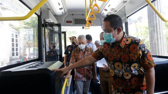 Hendi Uji Coba Bus Listrik Karya Anak Bangsa Untuk Kota Semarang