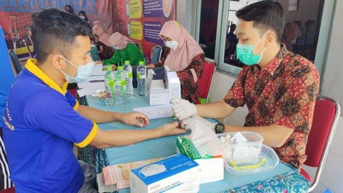 Puluhan Warga Binaan Rutan Kelas IIB Banyumas Ikuti Pemeriksaan VCT HIV AIDS