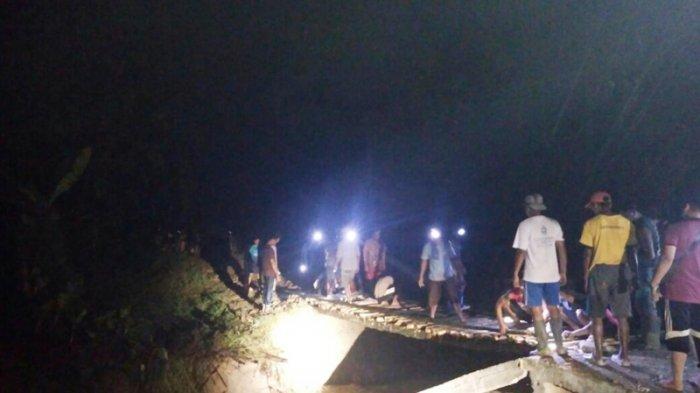 Jembatan Darurat Dibangun Setelah Jembatan di Dusun Jatigowok, Kendal, Ambrol Diterjang Banjir