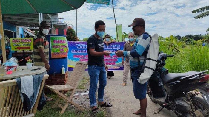 Dukung Gerakan Pati di Rumah Saja, Warga Dukuh Tambakjati Buat Posko Pembatasan Wilayah