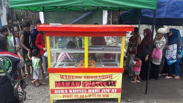 Anggota Polres Kebumen Ini Dirikan Warung Shadaqah, Berikan Makan Gratis Tiap Hari Jumat