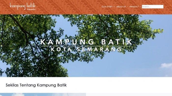 Web yang dibikin mahasiswa KKN UNS untuk warga Kampung Batik, Rejomulyo, Kota Semarang.