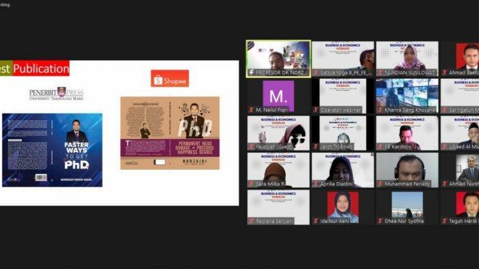 Webinar FE Unnes Bahas Riset,Guru Besar Malaysia Sampaikan Kiat Tembus Jurnal Terindeks Scopus