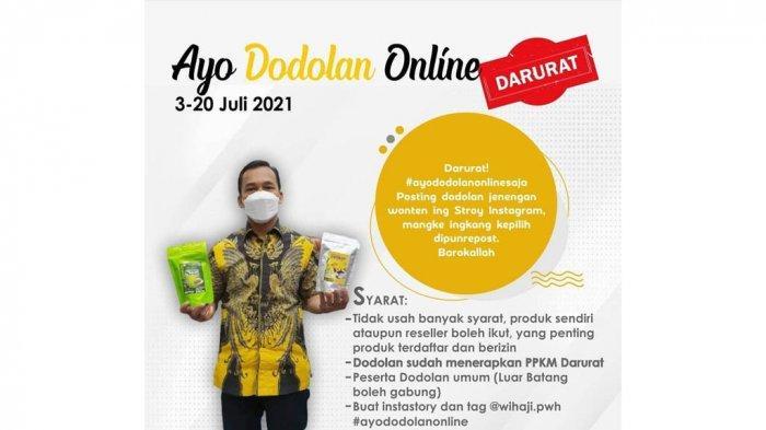 Bupati Wihaji Gaspol Bantu Dodolan Online Warga Batang Selama PPKM Darurat