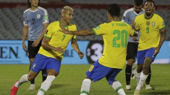 Hasil Kualifikasi Piala Dunia 2022 Uruguay Vs Brasil, Tim Samba Masih Sempurna