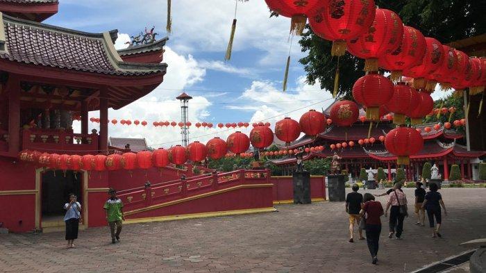 Tahun Baru Imlek, Pengunjung Kelenteng Sam Poo Kong Semarang Capai 12 Ribu Wisatawan