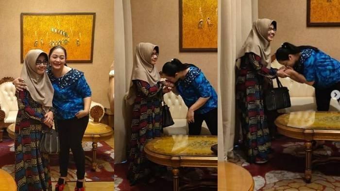 2 Istri Didi Kempot Saputri dan Yan Vellia Akur Bertemu di Solo, Ada Adegan Cium Tangan dan Pelukan