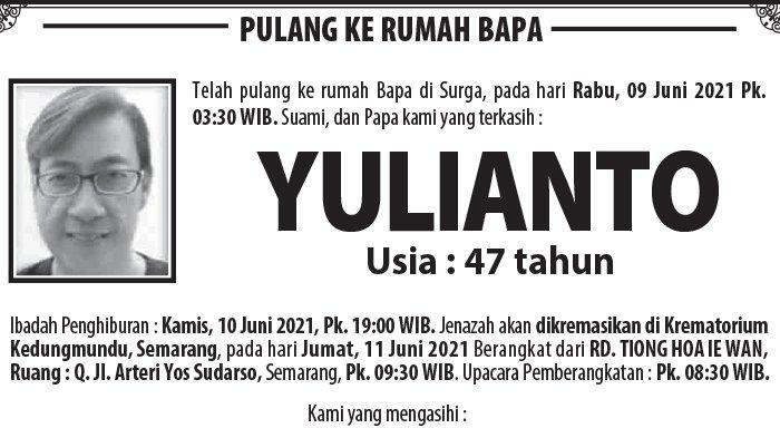Kabar Duka, Yulianto Meninggal di Semarang