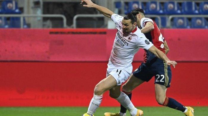 Hasil Serie A Liga Italia Cagliari Vs AC Milan, Rossoneri Tekuk Tuan Rumah dengan 2 Gol Ibrahimovic