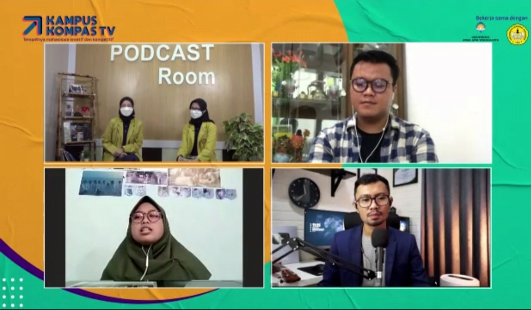 Anisa dan Zelda, mahasiswa Ilmu Komunikasi Unsoed tampil sebagai Host Kampus Kompas TV bulan Juni 2021