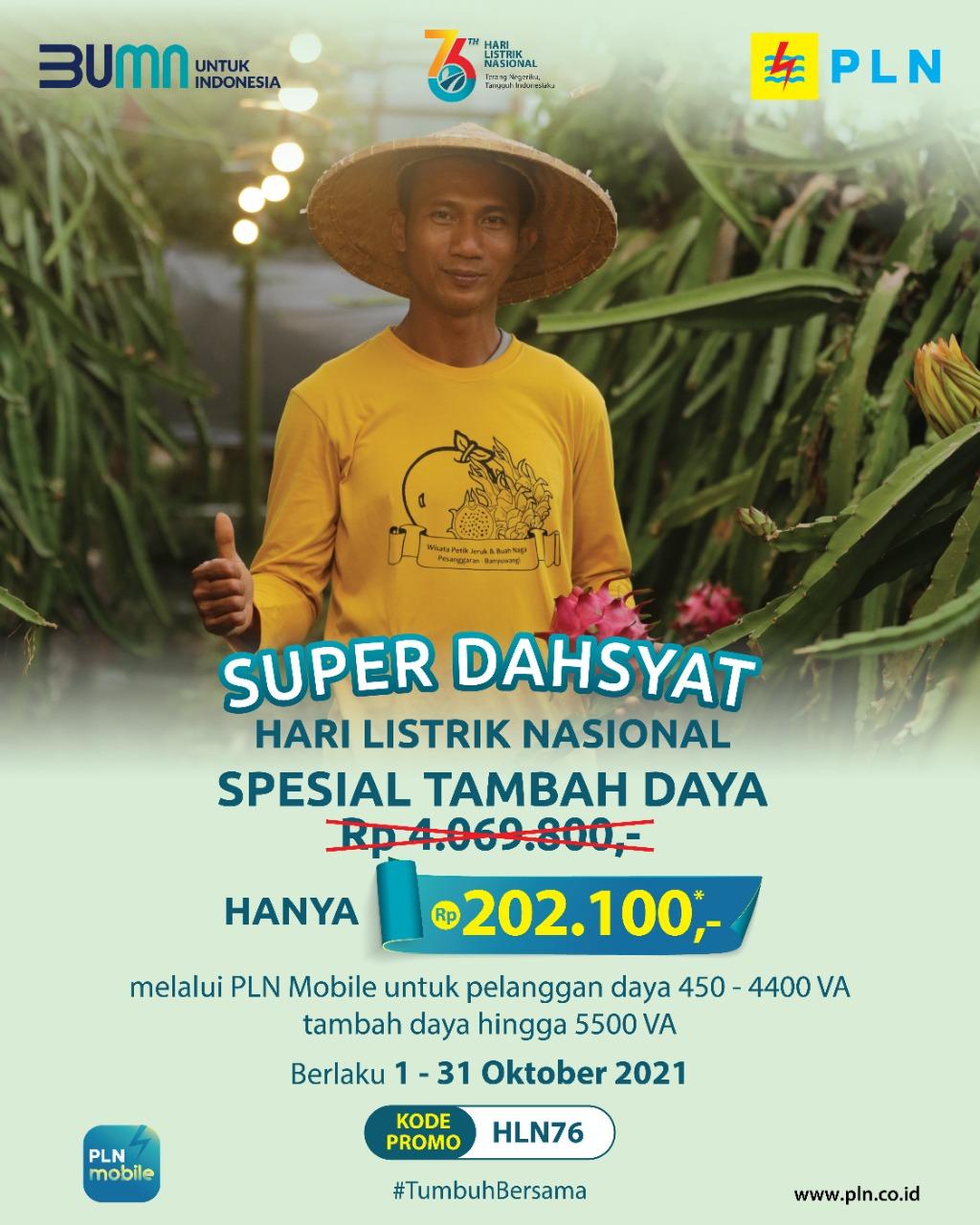 Promo Super Dahsyat Hari Listrik Nasional
