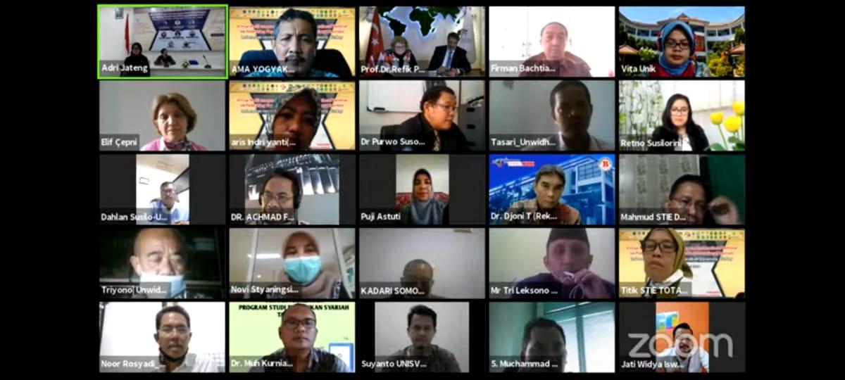 Kegiatan MOU antara Universitas Ivet dengan University Karabuk Turkey (Turki) berbarengan dengan International Webinar yang di adakan oleh Asosiasi Dosen Republik Indonesia Regional Jawa Tengah (ADRI JATENG)