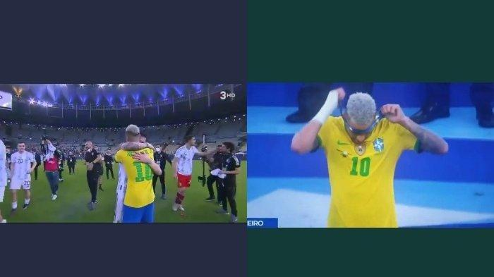 Detik-detik Neymar Nangis Dipeluk Lionel Messi Usai Brasil Gagal Total di Final Copa America 2021
